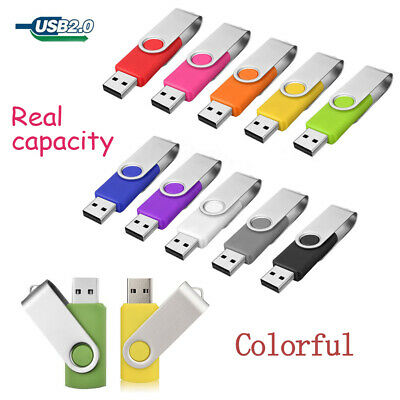 32GB 16GB 4GB USB 2.0 Flash Memory Stick Pen Drive Mini Storage Thumb Lot 64MB