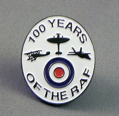 100 Years of the R.A.F. Enamel pin badge.  1918 - 2018. Royal Air Force.