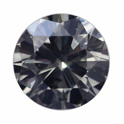 Loose Moissanite Grey Color SI3 7.50 MM to 9.20 MM Round Excellent Cut
