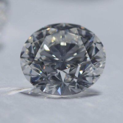 Loose Moissanite Grey Color VVS1 6.10 MM to 9.30 MM Round Excellent Cut