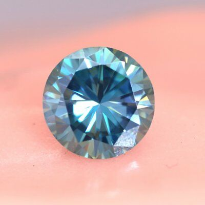 Loose Moissanite Blue Color (SI1-SI2) 5.45 MM to 10.80 MM Round Excellent Cut