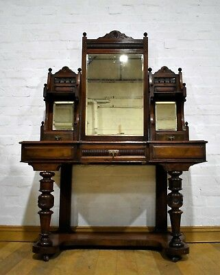 Antique carved Victorian duschess vanity dressing table
