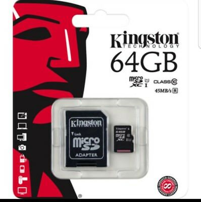 Kingston 64GB Micro SD SDXC MicroSD TF Class 10 64G 64 GB Advanced Memory Card