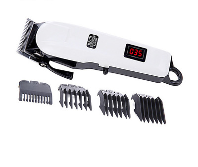 Precision steel cutter head electric Mega Taper Hair Clipper LCD Cordless charge