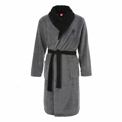 Liverpool FC LFC Mens Grey Classic Dressing Gown Official