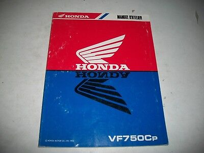 1993 Honda Vf750Cp  Motorcycle Factory Oem Shop Manual French Language Issue