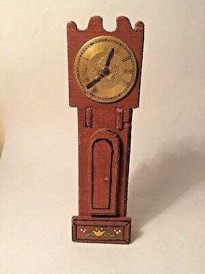 Vintage Doll's House unusual wooden Grandfather Clock/Umbrella Stand - L6