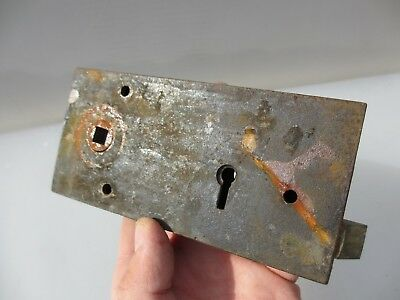 Antique Iron Door Lock Architectural Vintage Old MISSING KEY