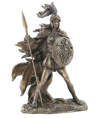 Athena Greek Goddess Of Wisdom And War Statue Sculpture Figurine - GIFT BOXED