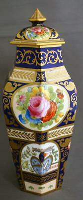 Antique Crown Staffordshire Porcelain Imari English Rose Large Lidded Vase
