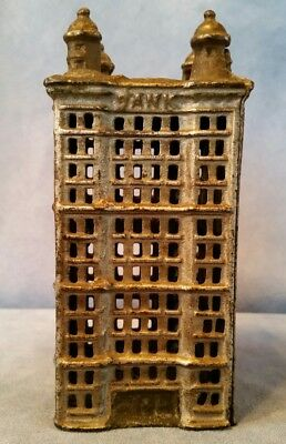 Antique/Vintage Cast Iron Toy Skyscraper Bank Early 1900's