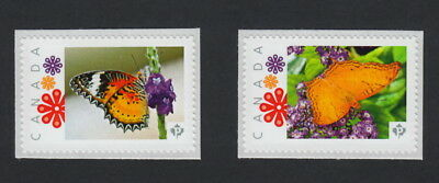 BUTTERFLIES Set of 2 Picture Postage MNH stamps Canada 2015 [p15/9bf2]
