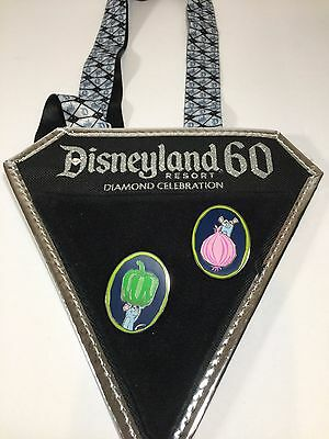 Disney Pin Lanyard Diamond 60th Anniversary Two Trading Pins Included Disneyland