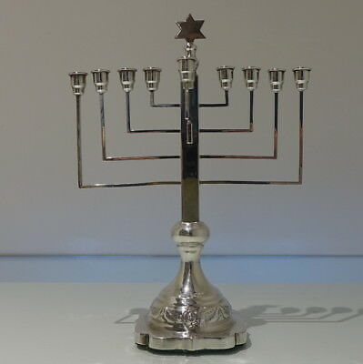 Sterling Silver George V Chanukia/Menorah London 1930 Morris Salkind