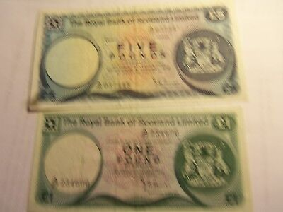 The royal bank of Scotland  Limited 5 and 1 pound  sterling 1972 nots