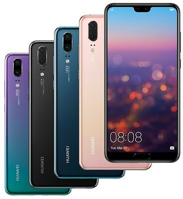 Huawei P20 EML-L29 128GB Dual Sim (FACTORY UNLOCKED) 5.8 4GB RAM Black Blue Pink