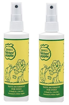 GRANNICKS Bitter Apple Spray for Dog - 8 oz Habit breaker training aid - 2pk