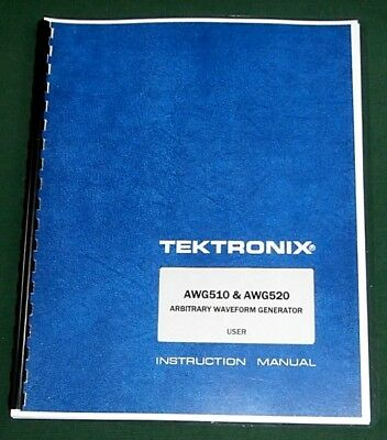 Tektronix AWG510 AWG520 User Manual: Comb Bound & Protective Plastic Covers
