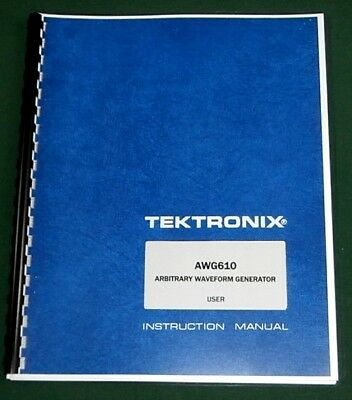 Tektronix AWG610 User Manual: Comb Bound & Protective Plastic Covers