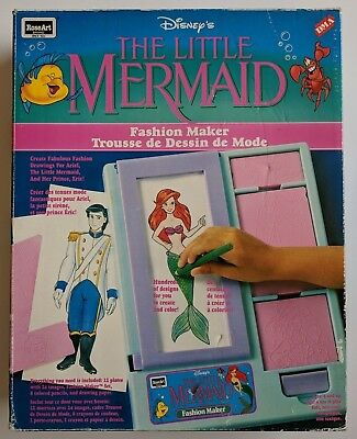Disney's The Little Mermaid Fashion Maker Roseart 1991 Coloring Pressing Plates