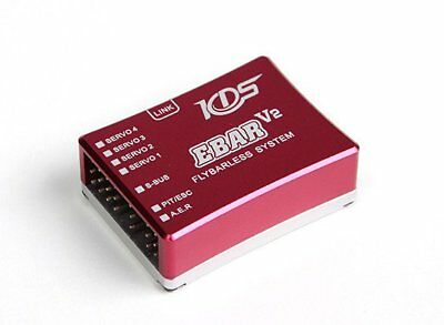 KDS EBAR V2 FLYBARLESS SYSTEM 3Axis Sensor With PPC/USB Cable For RC Helicopters