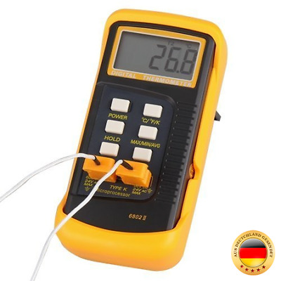 Signstek 3 1/2 6802 II Dual Channel Digital Thermometer Temperaturmessgerät -5