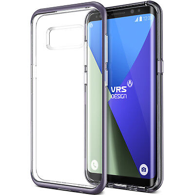 For Samsung Galaxy S8/S8 Plus Case VRS® [Crystal Bumper] Clear Slim Hybrid Cover
