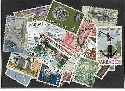 BARBADOS : PACKET- COLLECTION - All Different 25 Very nice stamps, Old and New.