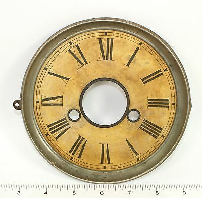 Vintage Time And Strike Clock Dial Pan - Mc55
