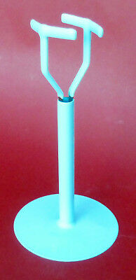 "Doll Stand, saddle type 6 1/2"" base, 8 1/2"" crotch support height"
