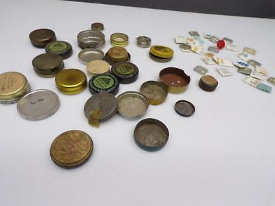 Lot Various Vintage Jeweler's Movement Tins & Bulova Accutron Watch Parts E368