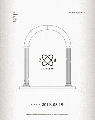 EVERGLOW HUSH 2nd Single Album CD+POSTER+Photo Book+7 Post Card+2 Card+Pre-Order