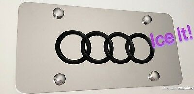 Buick Front Black Stainless Steel Heavy Duty 1mm License plate Frame W Bolts