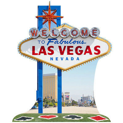 Welcome to FABULOUS LAS VEGAS Sign CARDBOARD CUTOUT Standup Standee Poster