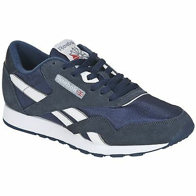 Details about REEBOK 39749 CL NYLON Mn's (M) NavyPlatinum SuedeNylon Lifestyle Shoes