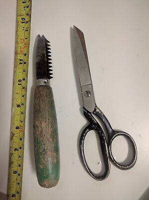 "Italy PREMAX 7"" tailor SCISSORS Shear & leather /fabric claw tool."