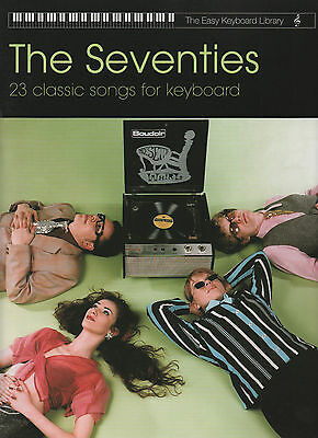 Seventies Hits For Easy Keyboard Sheet Music Book 1970s 70s Pop Rock Chart