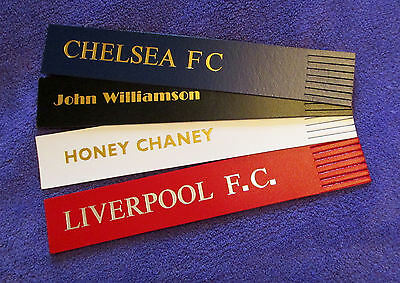 Quality PRINTED Faux Leather Personalised Bookmarks