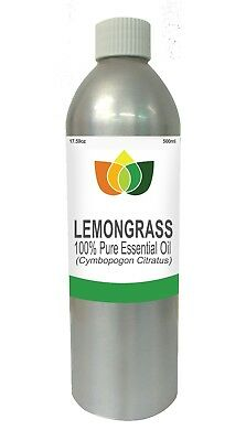 Lemongrass Essential Oil Natural Cymbopagon Citratus 500ml - Aromatherapy