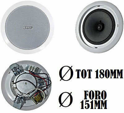 Kit x4 casse da incasso audio per soffitto filodiffusione - Filodiffusione in casa ...