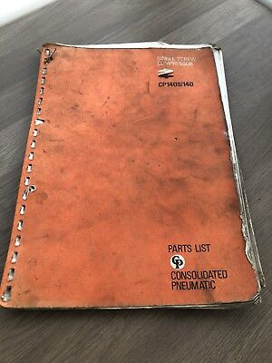 Consolidated Pneumatic Cp140S 140 Single Screw Air Compressor Parts List  Incvat