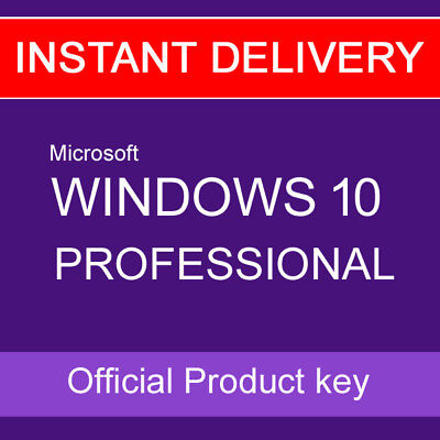 instant genuine windows 10 pro 32 64 bit professional license key code oem eur 4 58. Black Bedroom Furniture Sets. Home Design Ideas