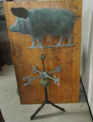 Antique Pig Weathervane Copper Fresh Barn Pick In New Jersey Fully Functional
