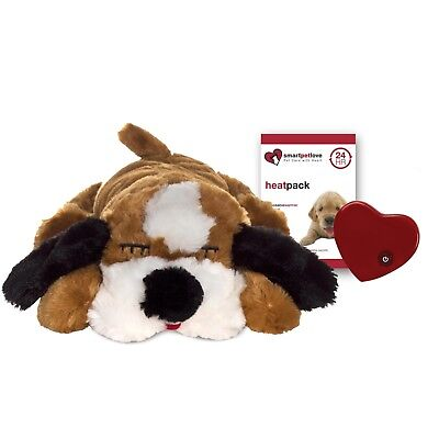 Smart Pet Love Snuggle Puppy BROWN & WHITE Real-feel pulsing Heartbeat + Heat