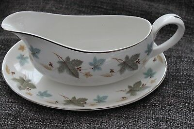 Gravy Boat Ridgway WHITE MIST VINEWOOD Made in England Vintage fine china