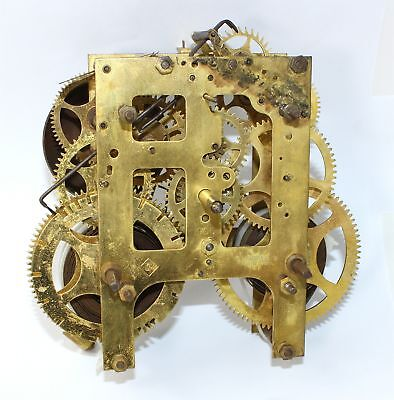 Gilbert 8 Day Clock Time & Strike Movement - For Parts Or Repair - Ll74