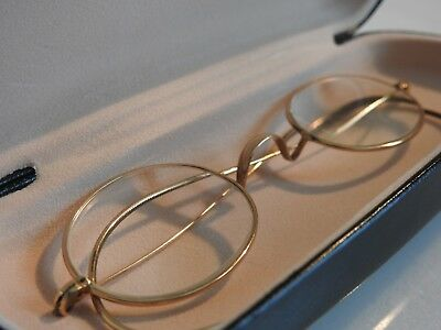 SOLID 10K GOLD vintage reading glasses +2.75