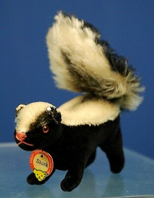 And With Skunk Button Old Steiff Skunk Shieldbuone condizioni SMLVqzpGU
