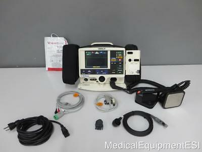 Physio-Control Lifepak 20 Biphasic 3 Lead ECG SpO2 Pacing AED  Paddles & Pads