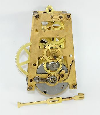 Vintage English Time Only Clock Movement - Parts Or Repair Ll109